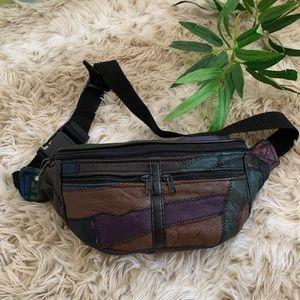 Vintage Leather Patchwork Fanny Back